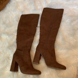 Forever 21 brown knee high boots